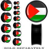 Palestine Flag Black Acrylic Saddle Plug