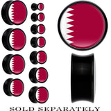 Qatar Flag Black Acrylic Saddle Plug