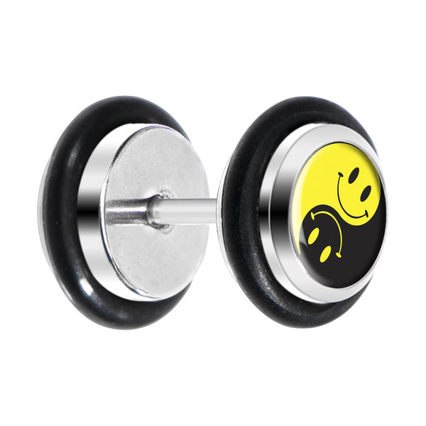 Yin Yang Smiley Face Cheater Plug