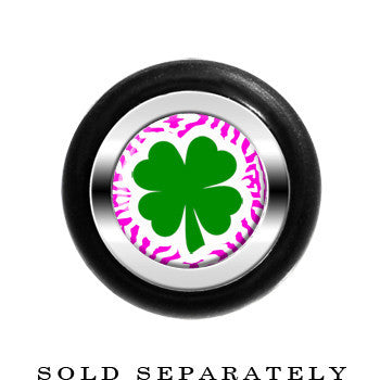 Pink Zebra Green Shamrock Cheater Plug