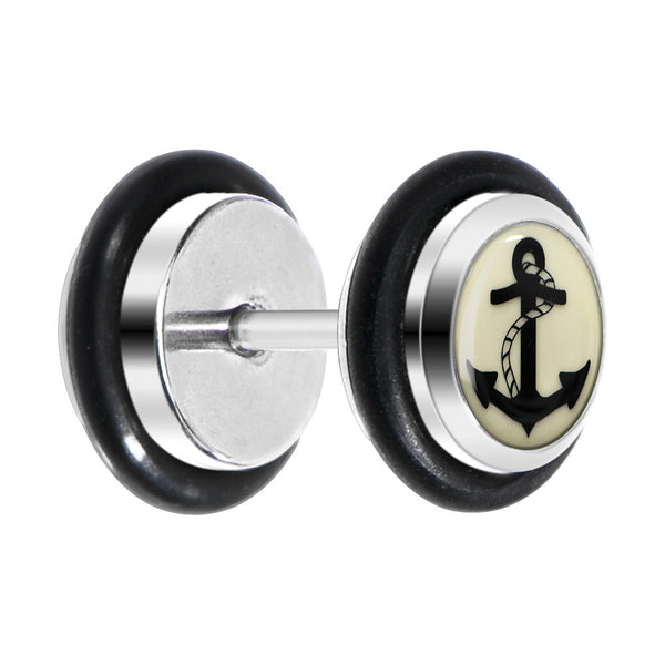 Nautical Anchor Glow in the Dark Cheater Plug