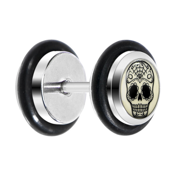 Sugar Skull Glow in the Dark Cheater Plug