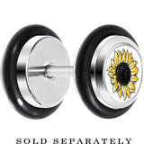 Stainless Steel Yellow SunFlower Cheater Plug