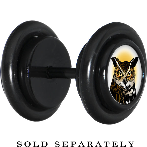 Black Anodized Titanium Brown Horned Owl Cheater Plug