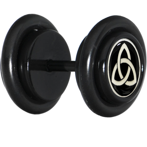 Black Titanium Celtic Trinity Glow in the Dark Cheater Plug