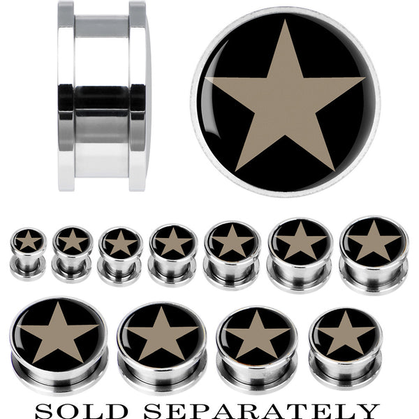 Steel Star Screw Fit Plug