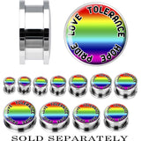 Steel Rainbow Pride PLTH Screw Fit Plug