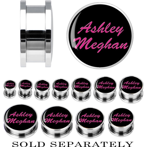 Custom No.2 Black Pink Steel Screw Fit Personalized Plug