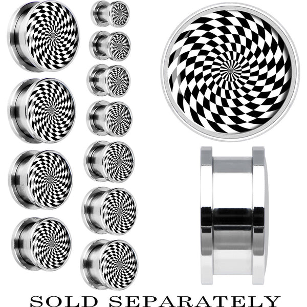 Steel Black and White Spiral Screw Fit Plug