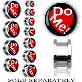 Steel Red Heart Do Me Screw Fit Plug