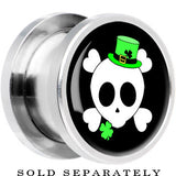St. Patty's Skull and Crossbones Screw Fit Plug