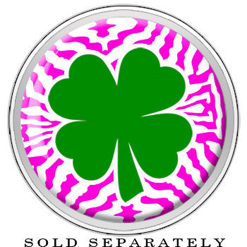 Pink Zebra Green Shamrock Screw Fit Plug