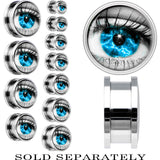 Steel Aqua Sky Human Eye Screw Fit Plug
