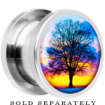 Steel Sunset Tree Branching Out Screw Fit Plug