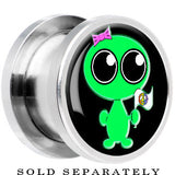 Steel Come in Peace Alien Screw Fit Plug