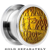 Steel Egyptian Hieroglyphics Wall Carving Screw Fit Plug