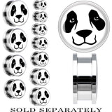 Steel Panda Bear Face Screw Fit Plug
