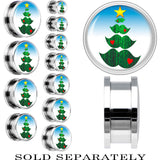 Steel Holiday Mustache Tree Screw Fit Plug