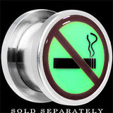 No Smoking Glow in the Dark Screw Fit Plug in Stainless Steel