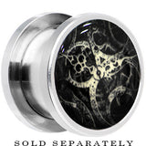Steampunk Gears Glow in the Dark Screw Fit Plug in Stainless Steel