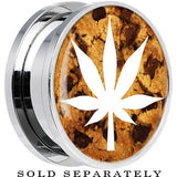 Chocolate Chip Cookie White Pot Leaf Screw Fit Plug in Stainless Steel