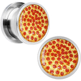 Hot Pepperoni Pizza Screw Fit Plug Set in Stainless Steel