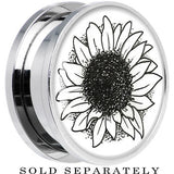 Arty Sunflower Screw Fit Plug in Stainless Steel