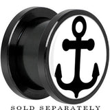 Anodized Black Titanium White Black Anchor Screw Fit Plug