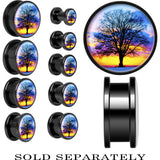 Anodized Black Titanium Sunset Tree Screw Fit Plug