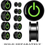 Anodized Black Titanium Green Power Button Screw Fit Plug