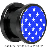 Anodized Black Titanium Blue White Stars Screw Fit Plug