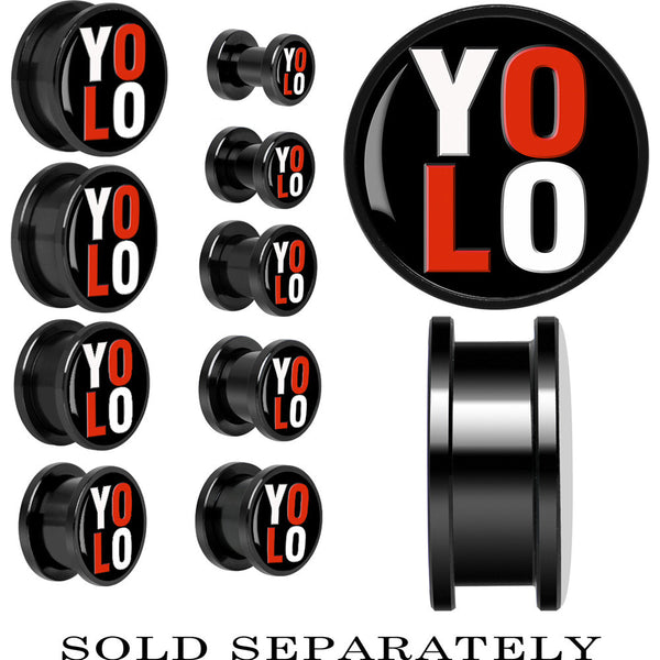 Anodized Black Titanium YOLO Screw Fit Plug