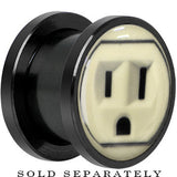 Outlet Glow in the Dark Screw Fit Plug in Anodized Black Titainum