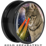 Cosmic Cat Laser Eyes Galaxy Screw Fit Plug in Black Titanium