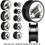 Classic Candy Corn Screw Fit Plug in Black Anodized Titanium