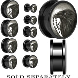Raven and Cross Screw Fit Plug in Black Anodized Titanium