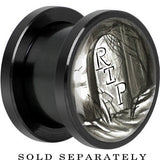 RIP Tombstone Screw Fit Plug in Black Anodized Titanium