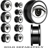 Arty Open Eye Screw Fit Plug in Black Titanium