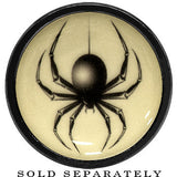 Black Widow Spider Glow in the Dark Screw Fit Plug in Anodized Black Titanium