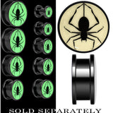 Spinning Spider Glow in the Dark Screw Fit Plug in Anodized Black Titanium