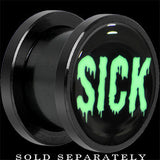 Sick Black Glow in the Dark Screw Fit Plug in Anodized Titanium
