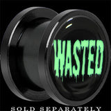 Wasted Black Glow in the Dark Screw Fit Plug in Anodized Titanium