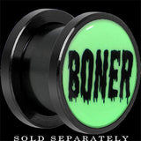 Boner White Glow in the Dark Screw Fit Plug in Anodized Titanium