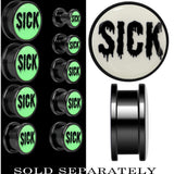 Sick White Glow in the Dark Screw Fit Plug in Anodized Titanium