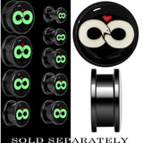 Infinity Snake Glow in the Dark Screw Fit Plug in Black Titanium