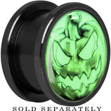 Bad Jack O' Lantern Glow in the Dark Screw Fit Plug in Titanium