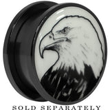 Arty Bald Eagle Glow in the Dark Screw Fit Plug in Black Titanium