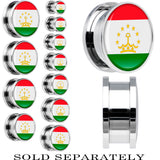 Tajikistan Flag Stainless Steel Screw Fit Plug