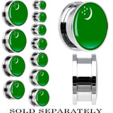 Turkmenistan Flag Stainless Steel Screw Fit Plug