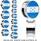 Honduras Flag Stainless Steel Screw Fit Plug